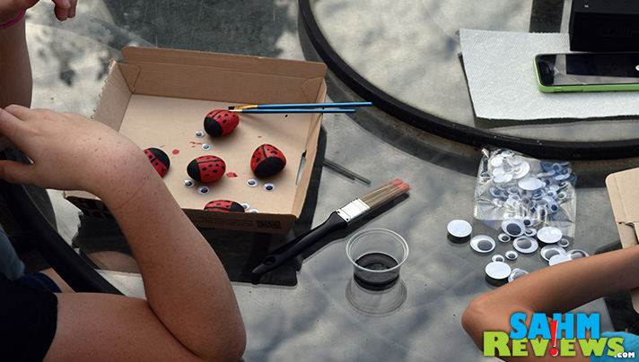 Not many supplies are required to create these DIY Pet Rock Ladybugs. Check out our tutorial. Easy, kid-friendly! - SahmReviews.com