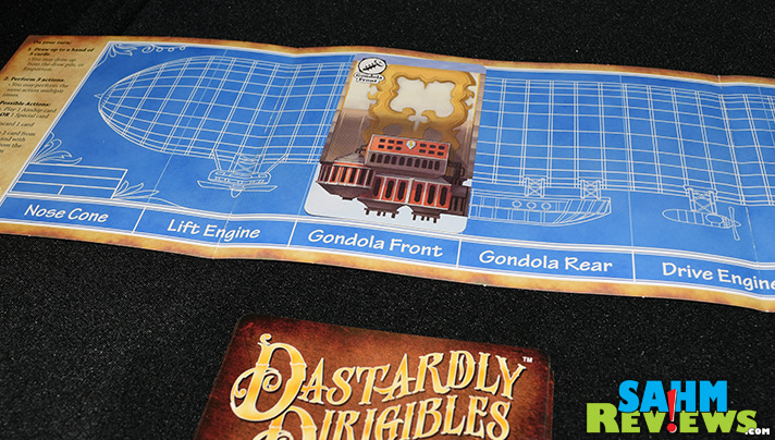 In Fireside Games' card game, Dastardly Dirigibles, you can build your own airship, hopefully much better than the Hindenburg! - SahmReviews.com