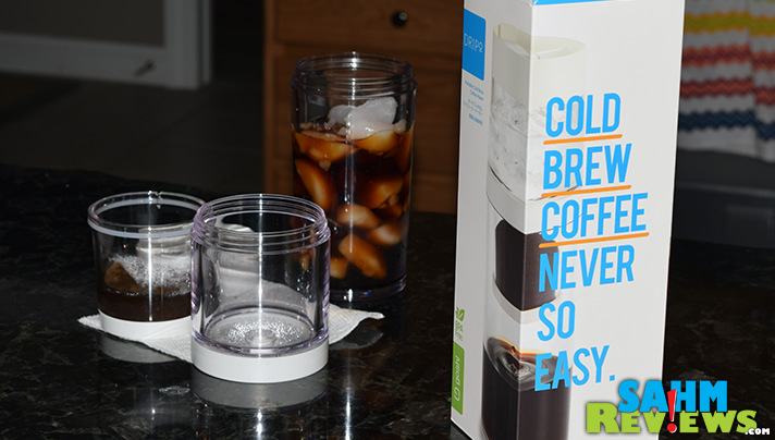 You don't need to go to the coffee shop. Use the Dripo cold brew coffee maker to make it at home! - SahmReviews.com