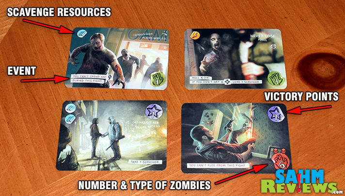 Hit Z Road route cards vary in complexity offering resources, bonuses, damage and zombies. - SahmReviews.com