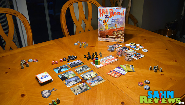Hit Z Road by Asmodee, you're trying to get from Chicago to Los Angeles and survive the zombies.