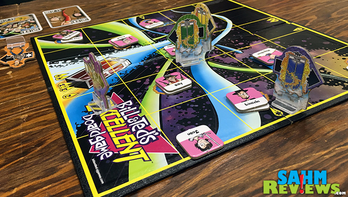 Bill & Ted's Excellent Board Game by Steve Jackson Games will take you back in time to the 80s and beyond. - SahmReviews.com