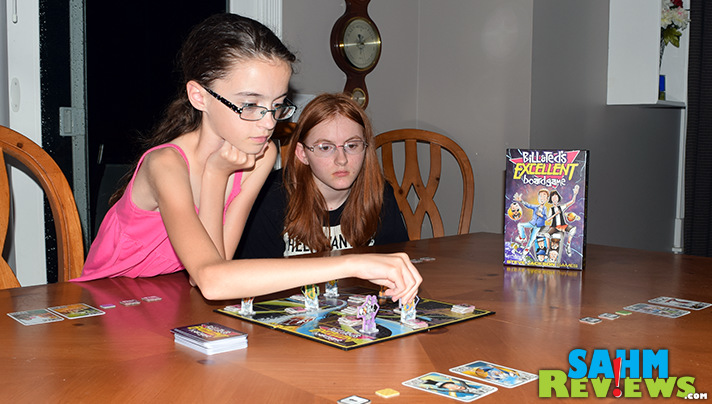 Utilizing programming as a movement mechanism, kids will learn basic programming while playing Bill & Ted's Excellent Board Game from Steve Jackson Games. - SahmReviews.com