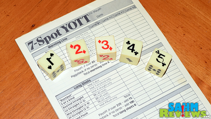 7-Spot YOTT was another game we purchased because of the cool dice. This time we're keeping the dice and trashing this Yahtzee clone. - SahmReviews.com
