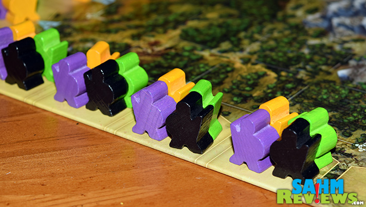 Just because it is from a company known for kid's games, doesn't mean Adventure Land isn't for the whole family! Check out HABA USA's latest hobby game! - SahmReviews.com