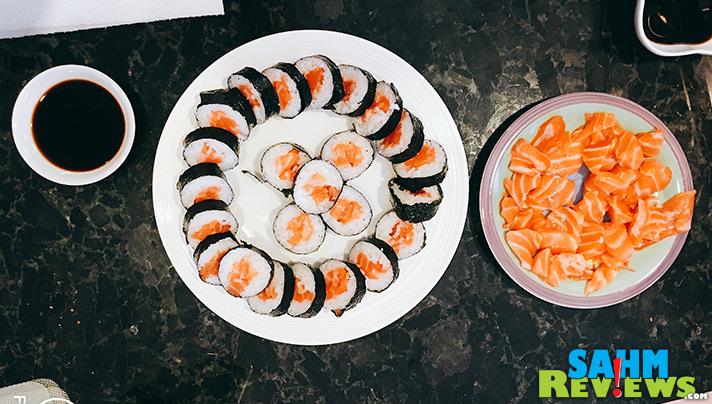 Host a sushi-themed party including sushi and games. - SahmReviews.com
