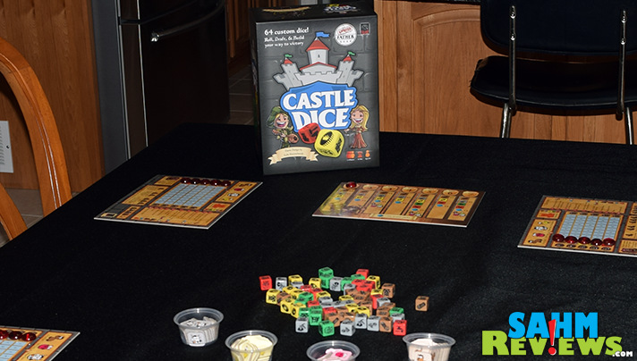 It started out as a Minecraft dice game and eventually became Castle Dice by Fun to 11. See why we think it didn't need the extra expense of a license! - SahmReviews.com