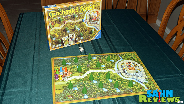 I've always been a sucker for good game components. Ravensburger's Enchanted Forest and its little trees was something I just couldn't pass up! - SahmReviews.com
