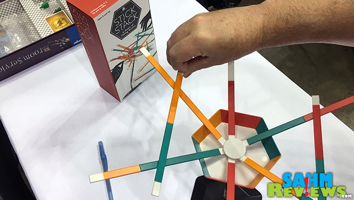 Match colors stacking sticks in Stick Stack, a Target exclusive game from Wonder Forge. - SahmReviews.com
