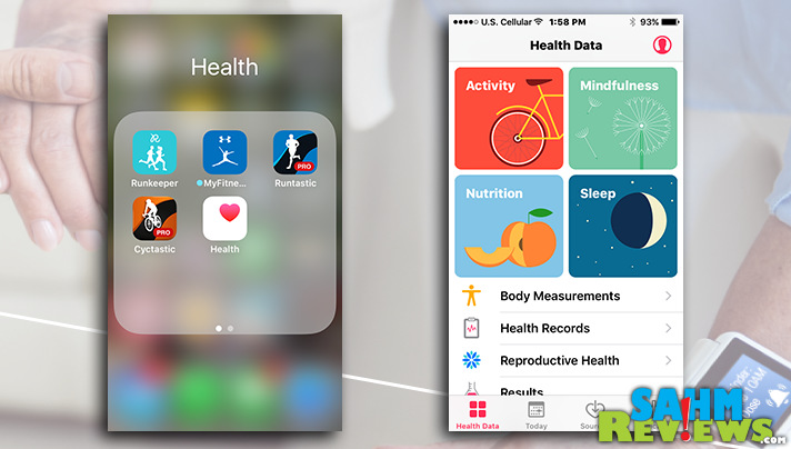 Use the built-in iPhone health app to track and monitor health related data. - SahmReviews.com