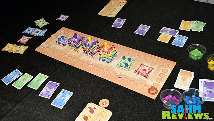 We're on a 2-player game kick at the moment and our latest is Pagoda by Alderac Entertainment Group. Come build a pagoda with us! - SahmReviews.com