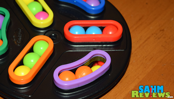 Not all puzzles are made from cardboard. This hand-held 3-D version by ThinkFun should keep you entertained for quite a while. Read more about Back Spin! - SahmReviews.com