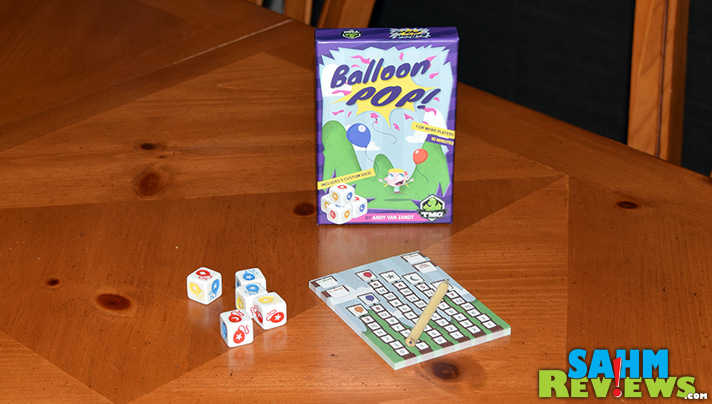 First it was Martian Dice. Now Tasty Minstrel Games has issued Balloon Pop. Will it replace the former as our favorite push-your-luck game? - SahmReviews.com