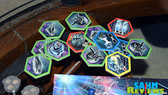 In Survive Space Attack by Stronghold Games, space station visitors try to save themselves for alien invasion. - SahmReviews.com