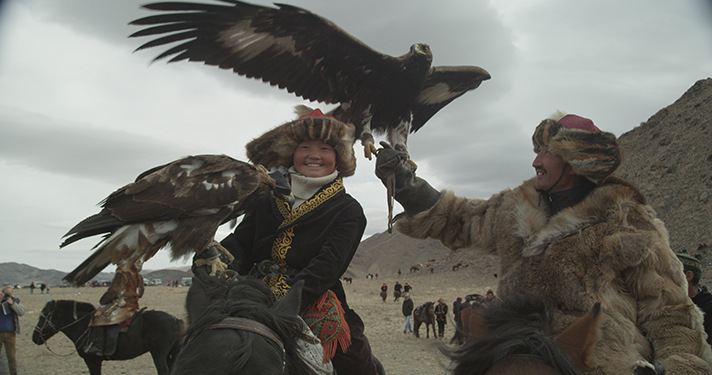 Eagles are beautiful creatures! Follow the journey of a 13-year old girl trying to make history as the first female eagle hunter in the documentary, The Eagle Huntress by Morgan Spurlock. - SahmReviews.com