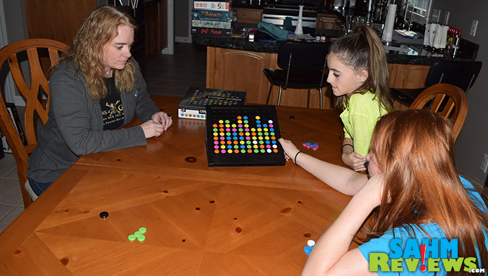 Just as satisfying and more fun than popping bubble wrap, Color Pop by Gigamic brings an app-like experience to the game table. Read more here! - SahmReviews.com