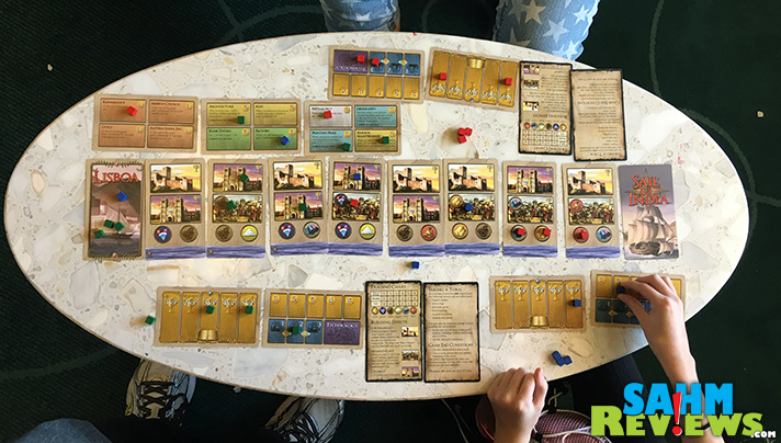 Sail to India is probably the most game in a small box we've found to date. And at under $20, one of the best values. Read more to find out why! - SahmReviews.com