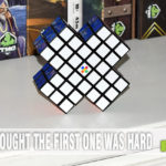 First we tackled the X-Cube by Moving Parts, LLC. This past fall they turned up the difficulty with their new X2 Cube. Did we dare to mix it up? - SahmReviews.com