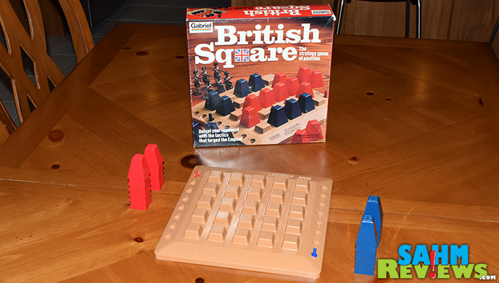 Our second purchase of an 80's-era game by Gabriel. We really like the first, Chinese Checkers. Would we like British Square as much? - SahmReviews.com