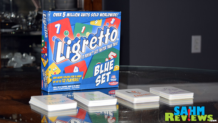 Playroom Entertainment's Ligretto is one that you'll want to buy multiple copies of. That is assuming you have more than three friends! - SahmReviews.com
