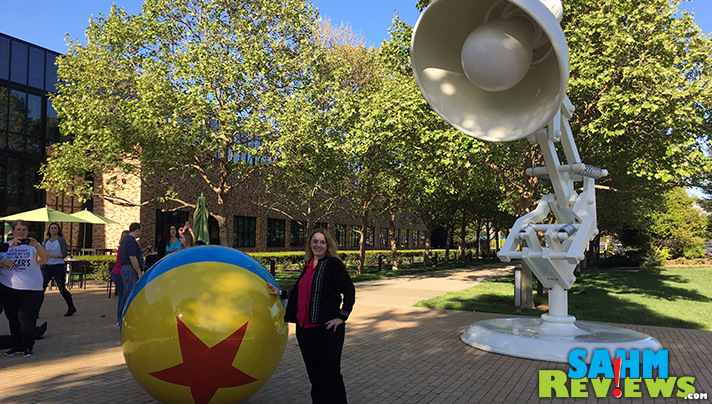 Luxo Jr and Luxo Ball are HUGE! We took a Pixar campus tour and discovered all kinds of Easter Eggs and cool features! - SahmReviews.com #Cars3Event