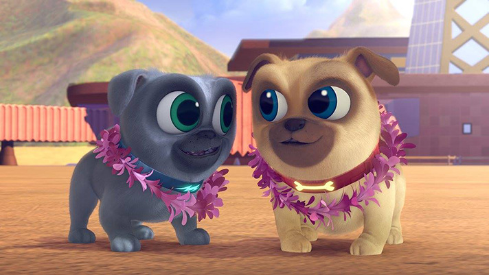 Puppy Dog Pals is a new Disney show centered around two dog brothers and their adventures. - SahmReviews.com #PuppyDogPals #Cars3Event