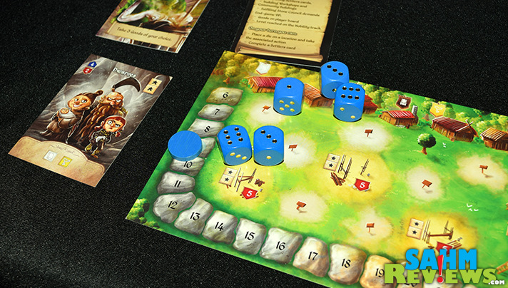 Final Frontier Games has a solid dice-based worker placement game in Cavern Tavern with Rise to Nobility rolling out soon via Kickstarter. The limitation of dice usage based on reputation shifts the game from luck to strategy-based. - SahmReviews.com