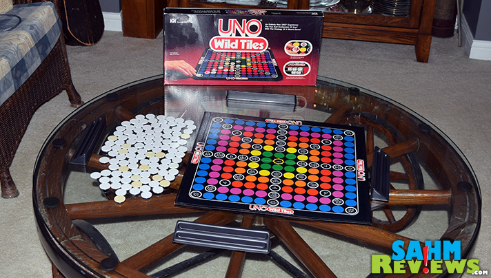We've all played UNO. But UNO Wild Tiles was one we had never seen or heard of. It is now in our collection as this week's Thrift Treasure! - SahmReviews.com