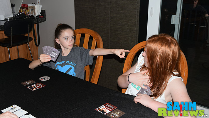 My girls love hidden-role games like Werewolf and Escape. Batman: Almost Got 'Im from Cryptozoic Entertainment adds poker to this superhero-themed title. - SahmReviews.com