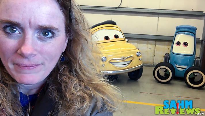 Sshhh. Don't bother Guido and Luigi while they are working on Cars 3 at Sonoma Raceway! - SahmReviews.com #Cars3Event