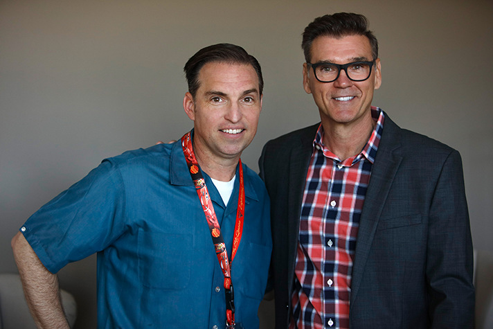 Cars 3 Creative Director Jay Ward and Ray Evernham sharing about the history of racing during a media event at Sonoma Raceway. - SahmReviews.com #Cars3Event