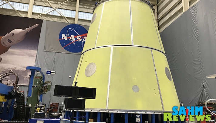 During our Marshal Space Flight Center tour, we stood next to this Launch Vehicle Stage Adapter that WILL be in space some day. - SahmReviews.com