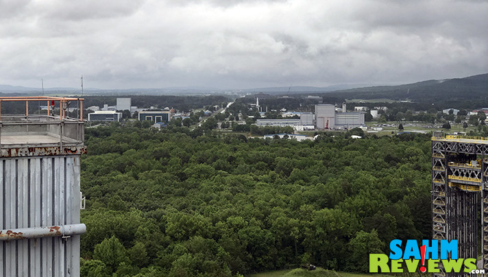 Check out the view of Huntsville, Alabama from the TOP of the Saturn V S-1C Static Test Stand. - SahmReviews.com