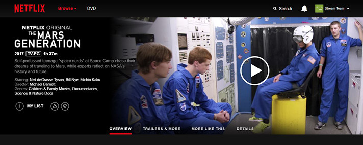 Join the Mission to Mars via Netflix original: The Mars Generation and other documentaries about space exploration. - SahmReviews.com