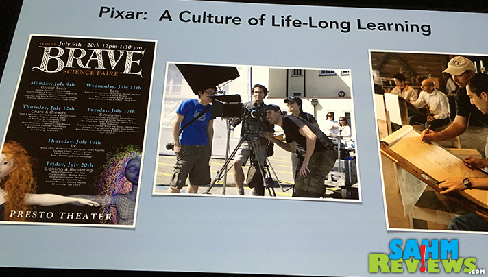Pixar in a Box teaches how classroom principles apply to the creation of animated productions like Cars 3. - SahmReviews.com #Cars3Event