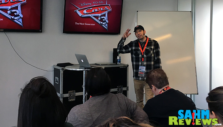 Jay Shuster shares details of the making of the next generation of characters for Pixar Cars 3. - SahmReviews.com #Cars3Event