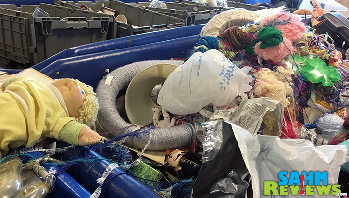 DIY and Crafters can find a lot of inexpensive supplies at Goodwill Outlet. Learn what you can expect when you visit a Goodwill Outlet store. - SahmReviews.com