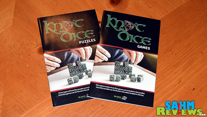 Most games we buy have only one game in the box. Knot Dice by Black Oak Games not only comes with twelve, it has over a half dozen puzzles to solve! - SahmReviews.com