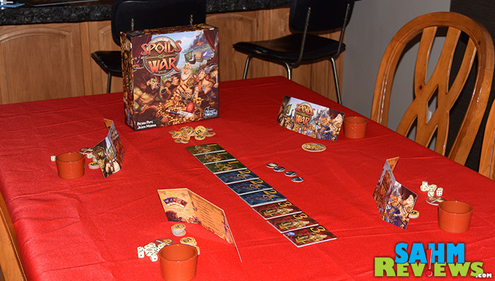 The first game we demo'ed at Origins Game Fair was also the first one we brought home. Find out why Spoils of War helped us clear our game shelf! - SahmReviews.com