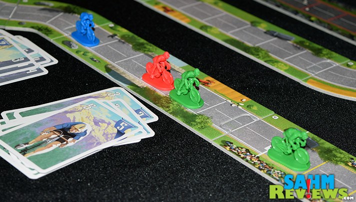 It's a racing game, but one that is foot-powered. We love watching the Tour de France on TV, now we can play it as a board game. We check out Flamme Rouge! - SahmReviews.com