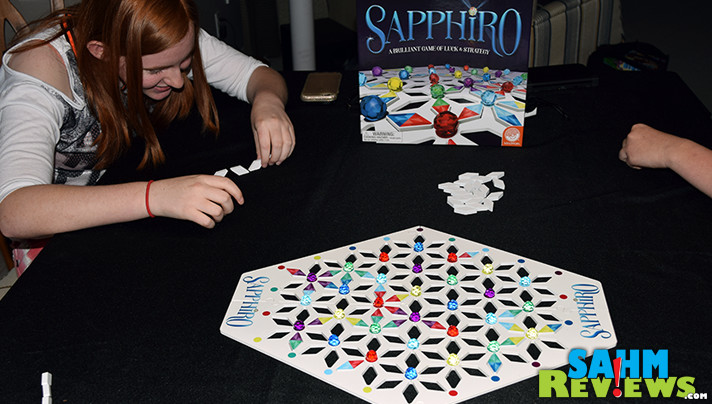 Sapphiro board game from Mindware is a strategy game, but it's also really pretty to look at! - SahmReviews.com