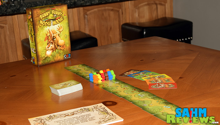 When the hunter shows up, freeze! That's the premise of Bunny Bunny Moose Moose party game from Czech Games Edition. - SahmReviews.com