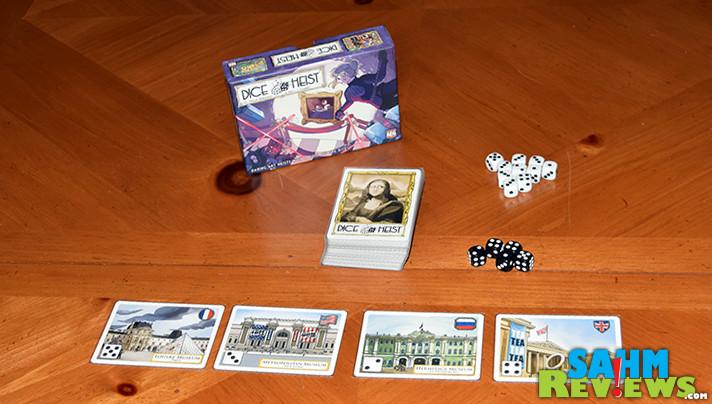 We don't mean to teach our kids bad things. But Dice Heist by AEG is just too darn fun not to! See for yourself over on the website! - SahmReviews.com