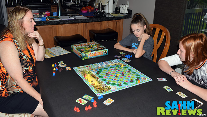 The cute meeples in Stronghold Games' Frogriders board game will appeal to all ages. The strategy required in the gameplay will keep bringing them back. - SahmReviews.com