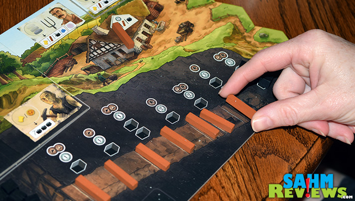 Haspelknecht is the first in a 3-part series of games that gets more complex with each issue. Read more to see how Capstone Games is implementing this idea! - SahmReviews.com