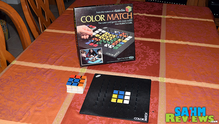 It's a Rubik's Cube in board game form! Colormatch won't have you solving the whole thing, just racing to be the first to complete one side! - SahmReviews.com