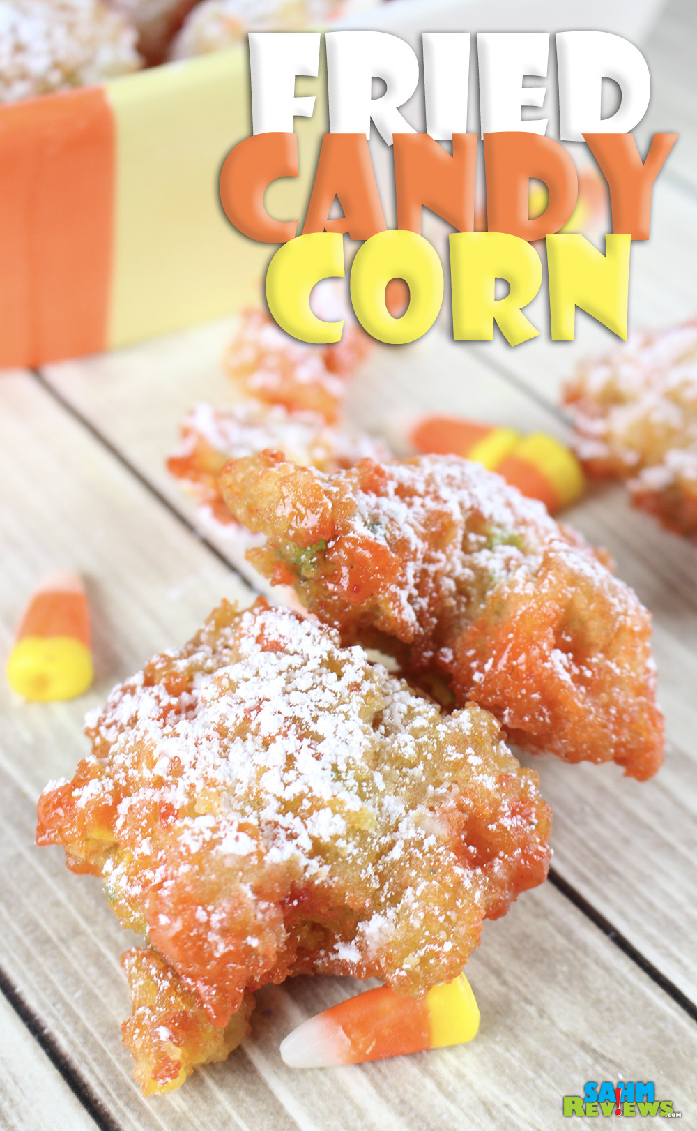 Check out this easy Fried Candy Corn recipe. This sweet treat will have you wondering if you're at the fair or celebrating the holidays. - SahmReviews.com