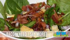 Sweet Bacon and Mustard Spinach Salad