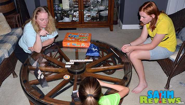 Goliath Games' Upturn reminded us of a mix between UNO and Rummikub. It is this week's Thrift Treasure - was it worth the discounted price? - SahmReviews.com