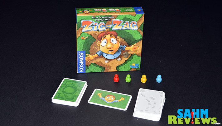 Love finding hobby games at our local thrift store. This week we found Zig-Zag by Kosmos / Rio Grande Games! Another in the line of games our kids win at. - SahmReviews.com